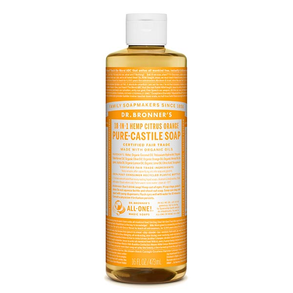 Dr. Bronner´s Citrus-Orange Nestesaippua 473 ml