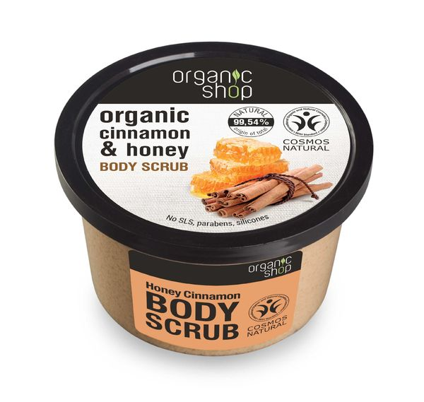 Organic Shop Honey Cinnamon sokerikuorinta vartalolle